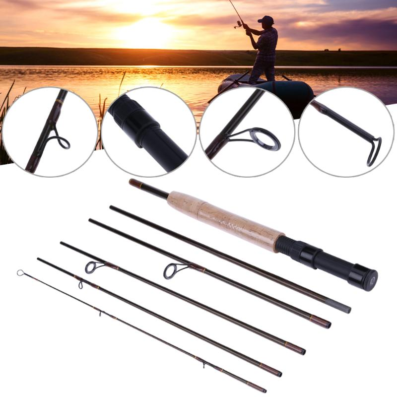 Portable 2.3M 7Section Carbon Fiber Spinning Casting/Travel Lure Fishing Rod Fishing Pole Device Carp Fishing Tackle De Pesca