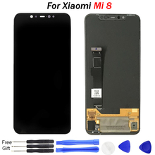For Xiaomi Mi 8 LCD Display Mi8 screen Mobile Phone Touch Screen Digitizer Full Assembly 2248x1080 pixel Amoled original