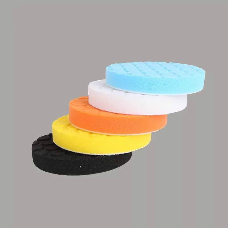 5 pçs/set Almofada De Lustro Do Carro 3/4/5/6/7 polegada Esponja de Polimento Enceramento Carro Barco polonês Tampão Roda Broca polidor Remove Riscos