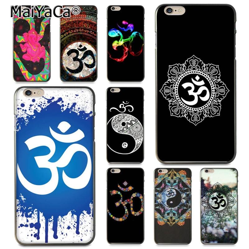 MaiYaCa Aum Om Yoga Novelty Fundas Phone Case Cover for Apple iPhone 8 7 6 6S Plus X 5 5S SE 5C Cover
