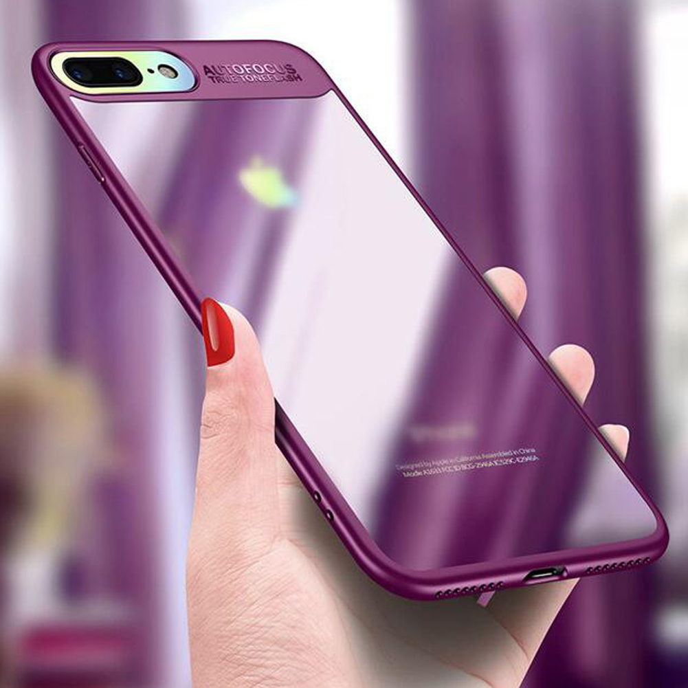 Mayround For iPhone 8 Plus Hybrid Clear Acrylic Silicone Rubber 360 Shockproof Phone Cases Covers for iPhone X Ten Armor Case