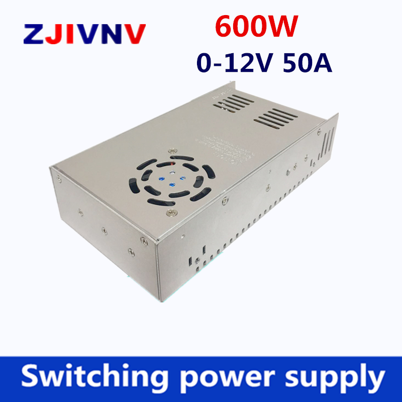 switching power supply 600W output 0-12v 50A input 110/220Vac Driver Transformers TO DC12V SMPS for Led Lamp CCTV led switching power supply dc12v 50a 600w transformer input ac110 220v