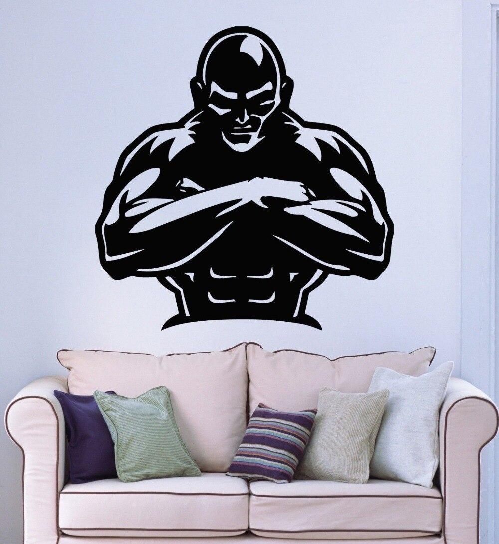 Wall Stickers Vinyl Decal Gym font b Bodybuilding b font Iron Sport font b Fitness b