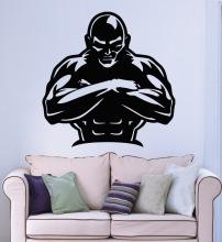 Wall Stickers Vinyl Decal Gym Bodybuilding Iron Sport Fitness Man