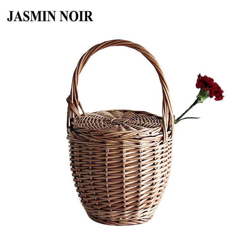 Fashion 2018 Summer New Women Beach Basket Straw Hand Bag Cover Handbag Wicker Handmade Small Woven Bohemia Tote Travel Clutch цена 2017