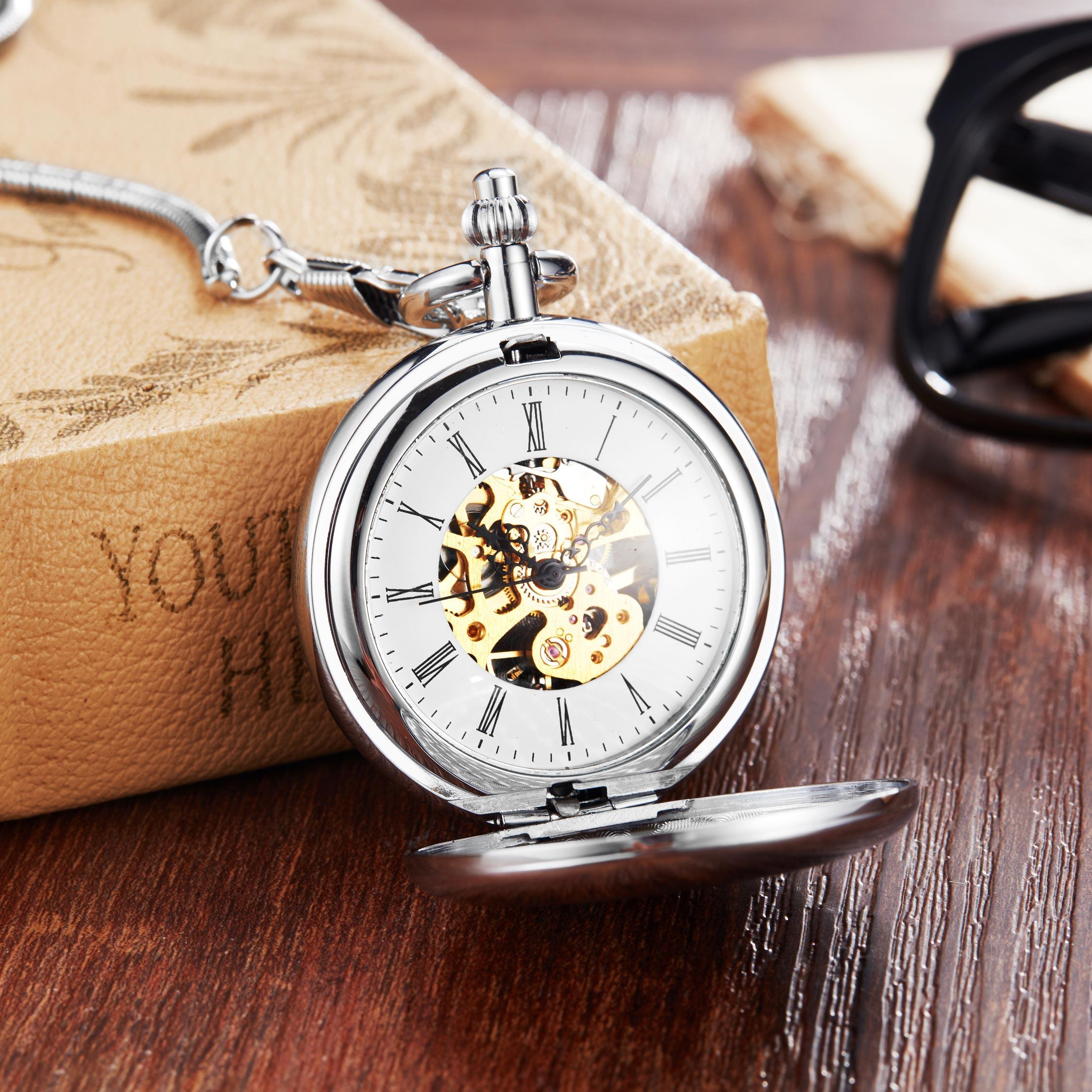 Vintage rétro cuivre montre de poche collier chaîne pendentif Antique Steampunk hommes Quartz montres de poche