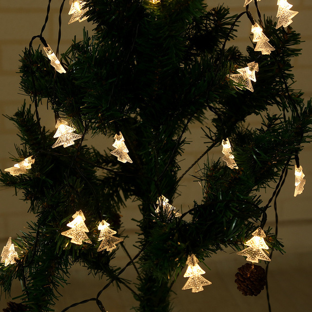 30 led string fairy lights for wedding decorations home outdoor christmas tree decoration christmas lights indoor - Indoor Decorative Christmas Trees