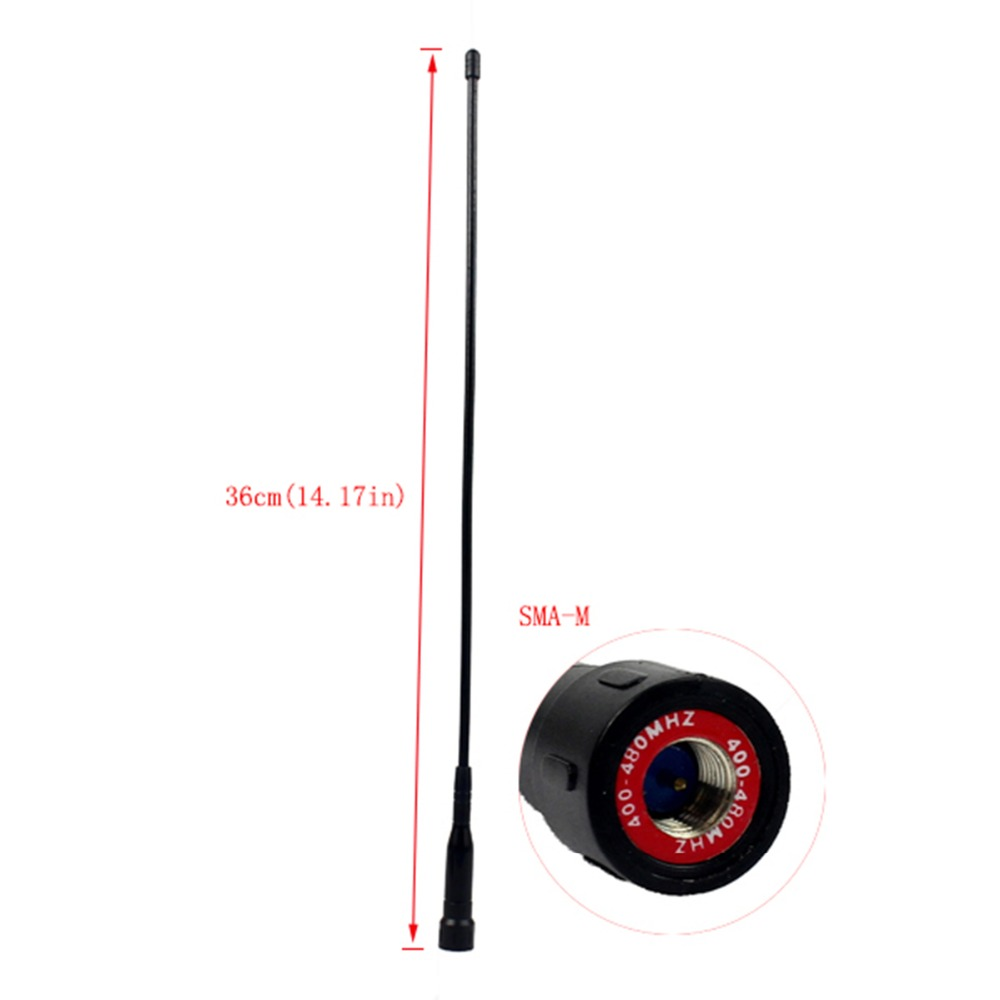 UHF 400-480MHz Long 14.17in SMA-M Antenna For Retevis RT1 RT8 Two Way Radio Walkie Talkie J9106D