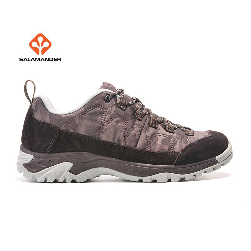 SALAMANDER Men's Leather Outdoor Hiking Trekking Sneakers Shoes For Men Sport Climbing Mountain Trail Shoes Sneaker Man humtto new hiking shoes men outdoor mountain climbing trekking shoes fur strong grip rubber sole male sneakers plus size