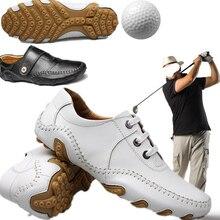 9e3fe8763 2019 جديد حذاء جولف رجل الغولف رياضة الدانتيل يصل عدم الانزلاق ضوء تنفس  لينة الراحة للماء أحذية رياضية الرجال مع ترصيع