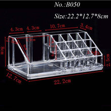 Eyebrow Pencil Display Shelf Eyeliner Mascara Storage Box Acrylic Makeup Organizer Lipstick Nail Polish Clear Plastic Cosmetic(China)
