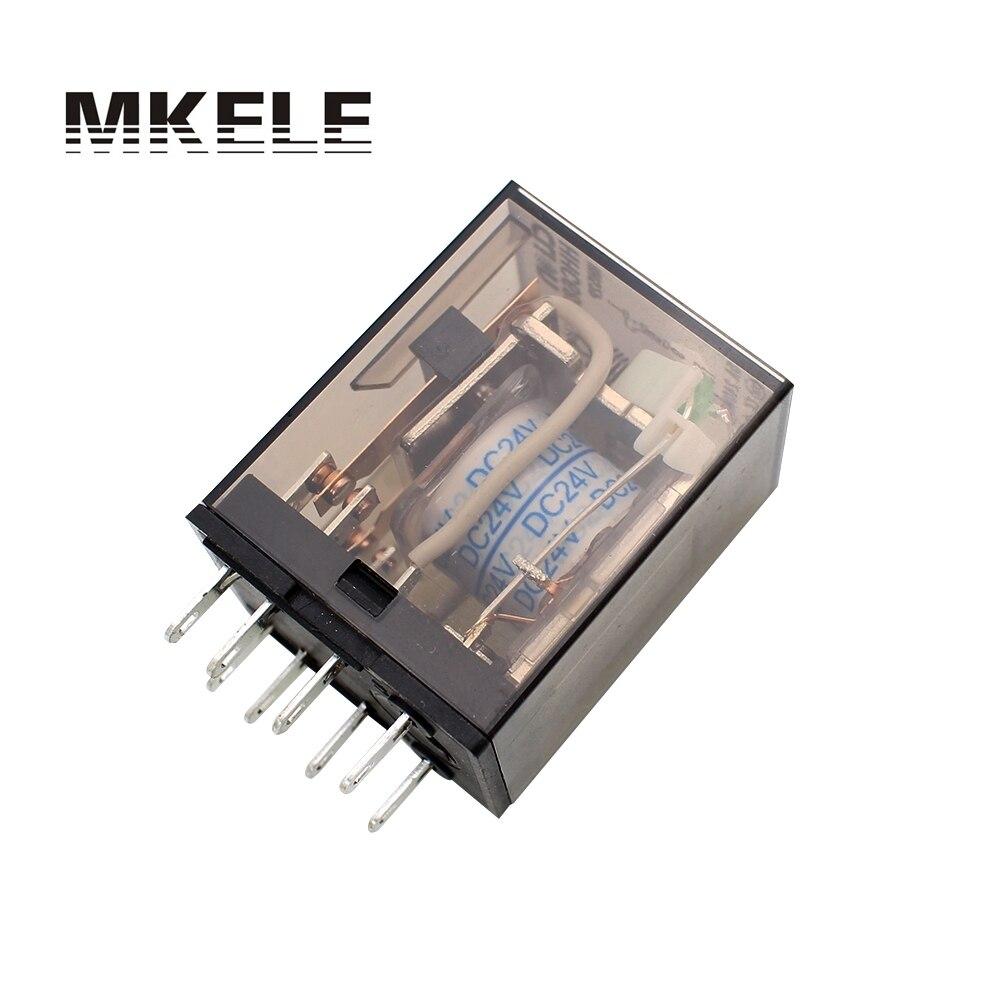 HHC68B 2Z HH52P DC 24V Coil 8 Pins DPDT 5A Electromagnetic Solid