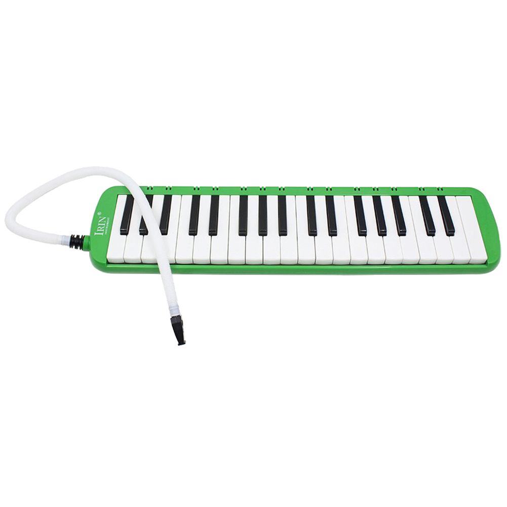 2 PCS of (37 Melodica Keys Melodic Musical Instrument with Carrying Bag for Students Beginners Kids Green) zebra musical instruments keyboard instruments piano sw 37k 37 keys melodica mouth organ with handbag