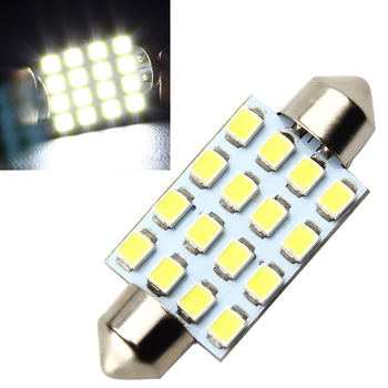 LEEPEE 16SMD Dome 3528 41mm Car Reading Light for BMW e46 e39 etc. automobile accessories image