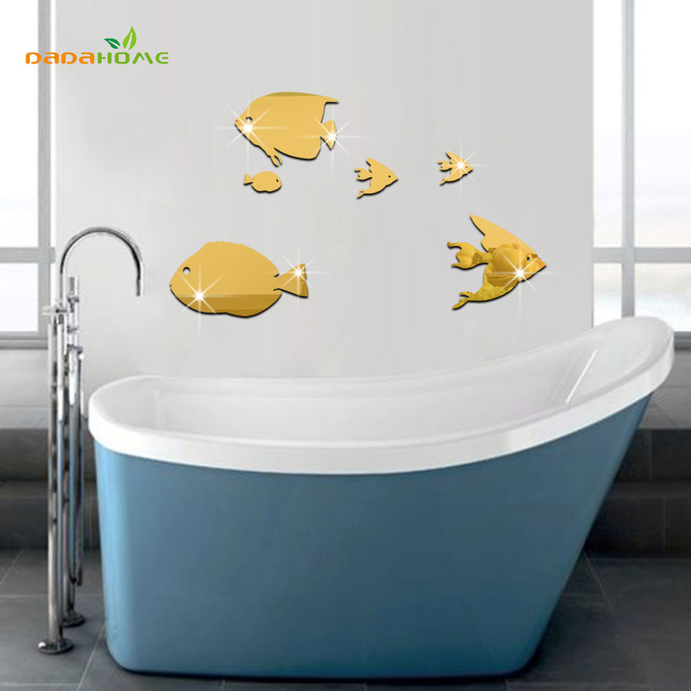 Bathroom Fish Decor Online Get Cheap Mirror Fish Aliexpresscom Alibaba Group