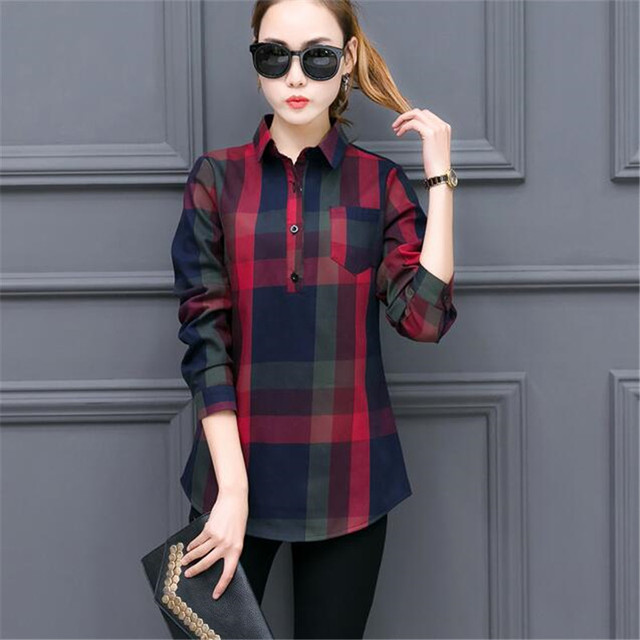 Qiu Dong Female Clothes Add Thick Flannel Shirt Fashion Women S