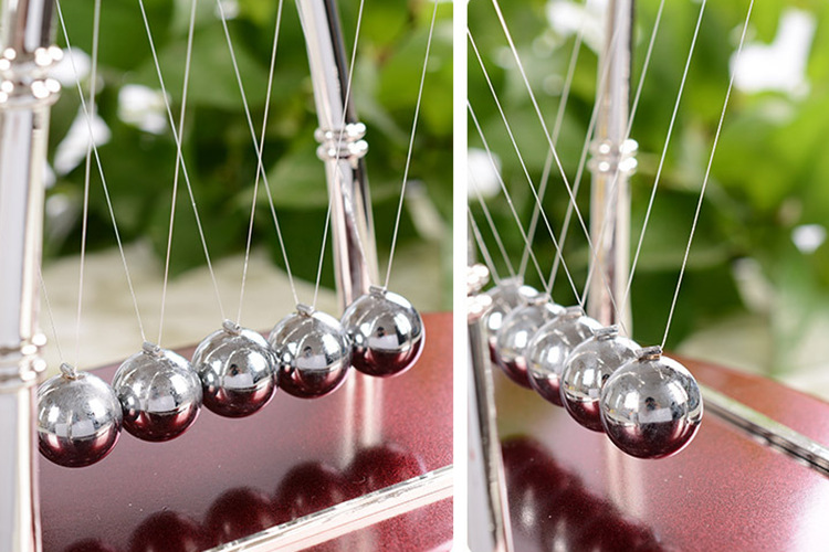 Energy conservation model of Newton ball striking physics teaching balance ball metal craft gift.