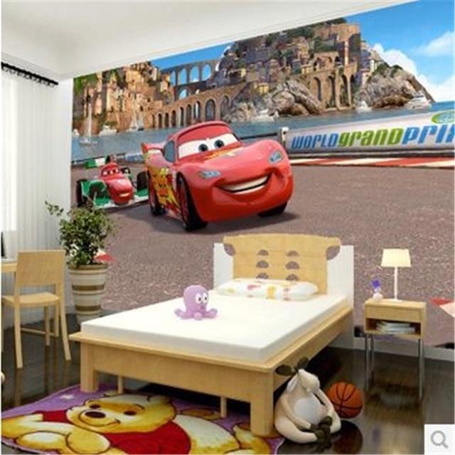 beibehang custom photo wallpaper-3d Car cartoon boys and girls wallpaper for  children's room bedroom 3d wall mural wallpaper