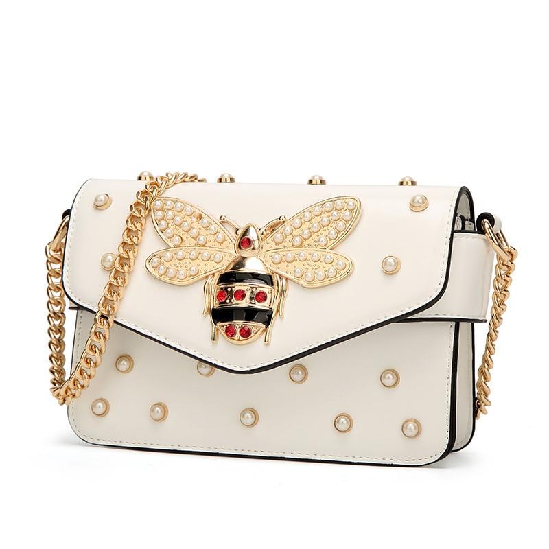 Bee Pearl Crossbody Messenger Shoulder Bag 2