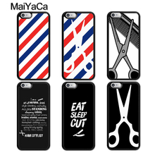 MaiYaCa Barber Stripes Scissors Case For iphone 11 Pro MAX X XR XS MAX 6 6S 7 8 Plus 5 5S TPU Back Cover Fundas new iphone case for iphone 11 for iphone11 pro max 5 8 inches 6 1 inches 6 8 inches 6 6s 7 8 plus ix xr max x fashion back cover