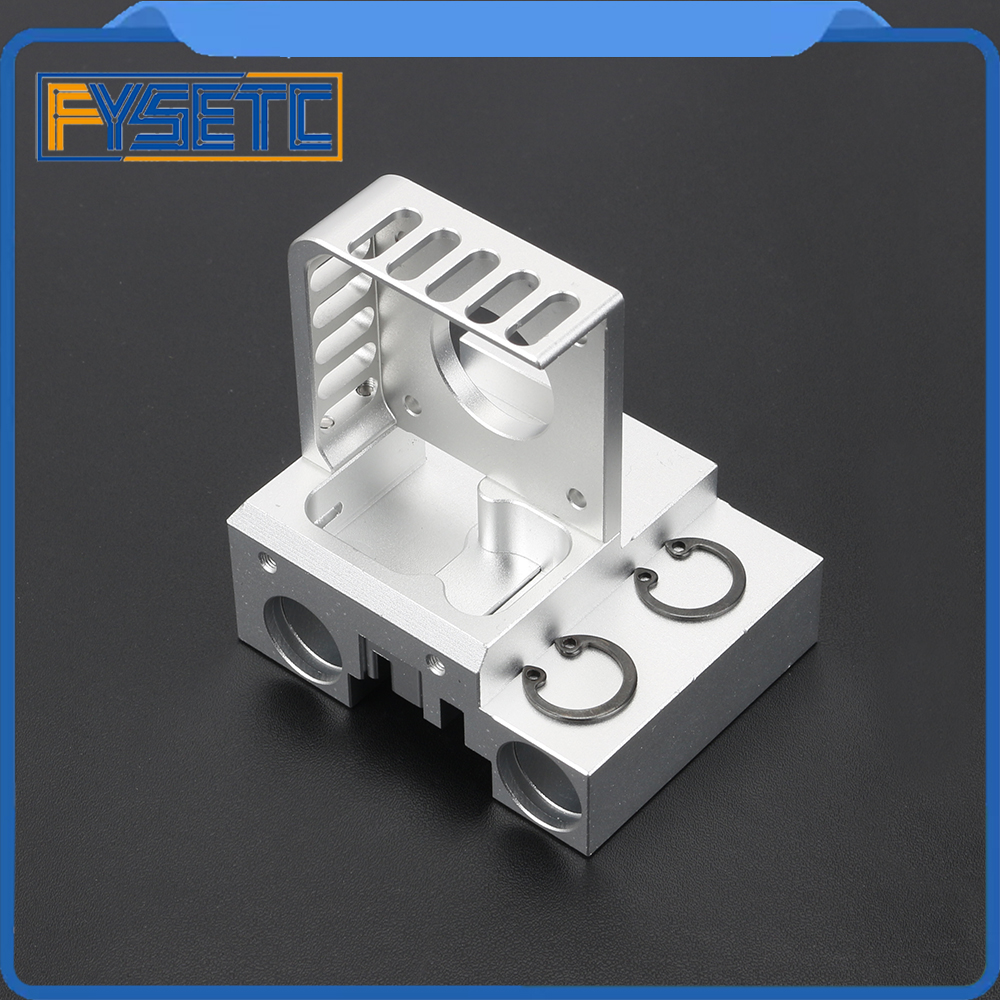 Aluminum Alloy X Shaft Carriage Kit Silver Nema 17 Motor Mount +X Slider+ Belt Clip For Prusa I3 MK2 E3d Titan Aero Extruder