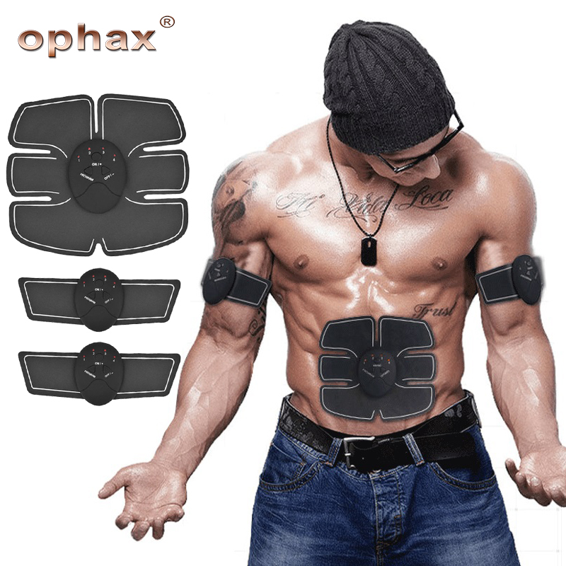 OPHAX Muscle Stimulator Wireless EMS Stimulation Trainer Body Slimming Abdominal Muscle Exerciser Device Massager Weight Loss