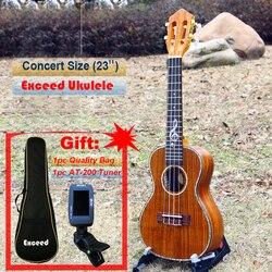 Ukulélé de Concert de 23 po, grand artisanat sonore en KOA 4 cordes, instrument de guitare acoustique classique hawaii uke Ukelele
