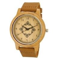 Top Gift Wood Watches Men S Arabic Turkish Numbers Unique Nature Wooden Bamboo Handmade Quartz Wrist