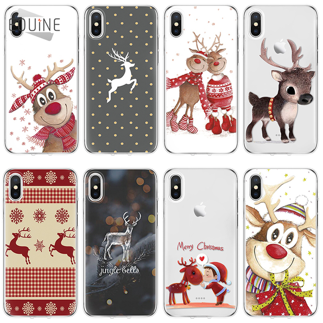 Christmas TPU for Samsung Galaxy A3 A5 J3 J5 J7 S6 S7 A6 A8 Edge S8 S9 Plus for iPhone XS Max XR 5 6 6S 7 8 Plus X Case Cover