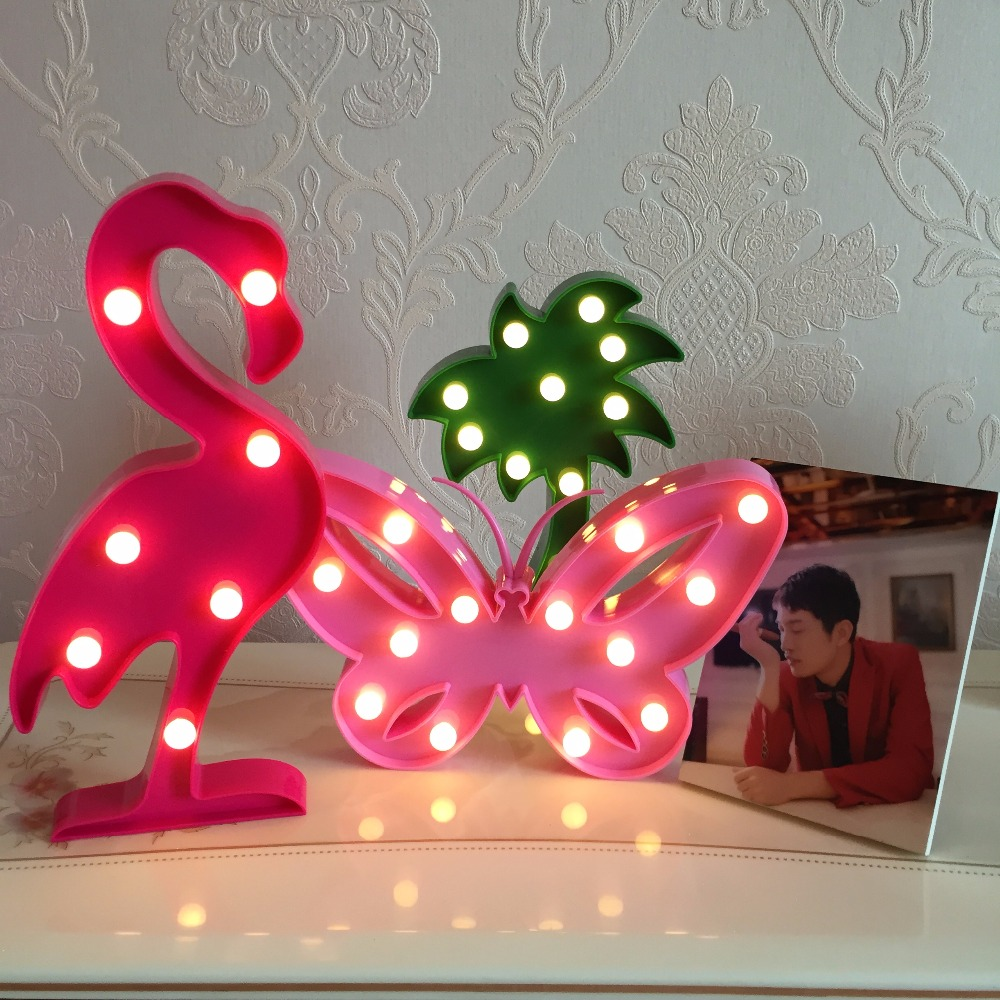 LED 3D Night Light Marquee Star Flamingos Moon Unicorn Mickey Crown Table Lamp For Home Party Decoration 3D Desk Lamp