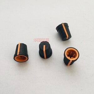 4 шт., полукруглая оранжевая резиновая ручка с полукруглым отверстием, 0 градусов, для дискового плеера, эквалайзера, миксера, диджея