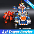 Lepin 14022 nexo caballeros de axl axl torre portador combinación marvel building blocks kits juguetes compatible con nexus 70322