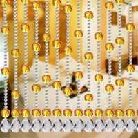 Перегородка для гостиной 1 набор акриловых занавески из хрустальных бусин хорошая стеклянная подвеска занавес оконный дверной, комнатный Д
