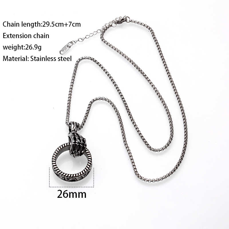 Mcllroy men necklace/vintage/stainless steel/chain necklace for women long retro pendants necklace punk jewelry 2019 collar