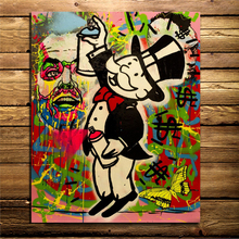Alec Monopoly Jumping Paint Wall Art Canvas Painting Posters Prints Modern Picture For Living Room Home Decoration