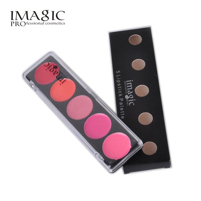 IMAGIC brillo de labios placa mate maquillaje 5 Color impermeable lápiz labial conjuntos mate duradero brillo de labios Nude tinte cosméticos paleta