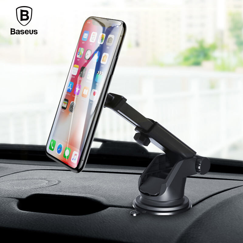 Baseus Telescopic Magnetic Car Phone Holder For iPhone X Sumsung S9 360 Adjustable Windshield GPS Car Mount Phone Holder Stand