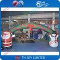 Бесплатная доставка! 6 х 4 м надувные арки с дед мороз и снеговик, надувной санта клаус арки для продажи, надувной снеговик арка
