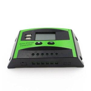 Image 5 - 60A 50A 40A 30A 20A 10A 12V 24V PWM שמש סלולרי פנל סוללה מטען Controller רגולטור LCD תצוגה USB 5V טלפון נייד מטען