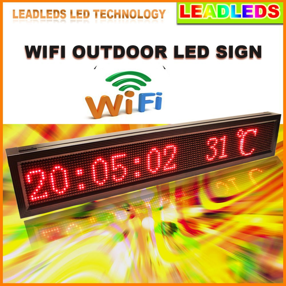 40inch P10 Outdoor Wifi Remote Control Led Sign Scrolling Wiring Diagrams For Lighting Advertising Message Display Board Business And Store In Displays From Electronic