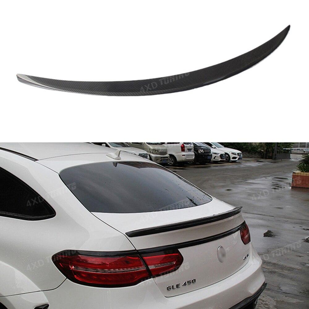 Carbon Fiber Rear Spoiler Rear Trunk Wing For Mercedes Coupe GLE300 GLE63 W166 Spoiler GLE400 GLE450 GLE500 GLE W166 AMG 2015-UP custom fit car floor mats special for w164 w166 mercedes benz ml gle ml350 ml400 ml500 gle300 gle320 gle400 gle450 gle500 liner