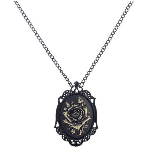 Vintage flower pendant steam punk gothic women