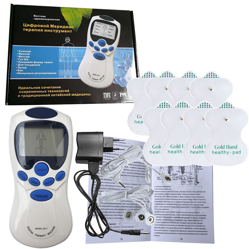 Russian Meridian Physiotherapy Instrument Multi-function Digital Muscle Relax Slimming Electric Healthy Care Massager