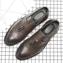 2018 New Fashion Mens Dress Shoes Vintage Oxfords Wedding Party Man men0004