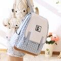 Mulheres Mochila de Lona Estilo Preppy saco de Escola de alta Qualidade Dot Capa Mochila Bookbags Mochilas Malas de Viagem Promoção
