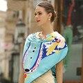 130*130 cm 2017 de la Marca de lujo de las mujeres de seda bufanda chal de moda nota de la música del ángel cuadrado grande sarga de seda pashmina