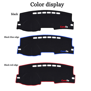 Image 3 - Car Dashboard Avoid light Pad Instrument Platform Desk Carpets For Toyota Corolla 2006 2013 2014 2015 2016 2017 2018 cover Mats