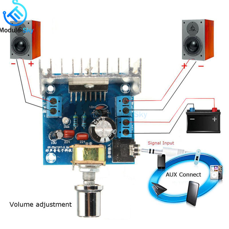 TDA7297 Version B Amplifier Board DC 9-15V 15W*2 Digital Audio Power Amplifier Module Stereo Dual Ch