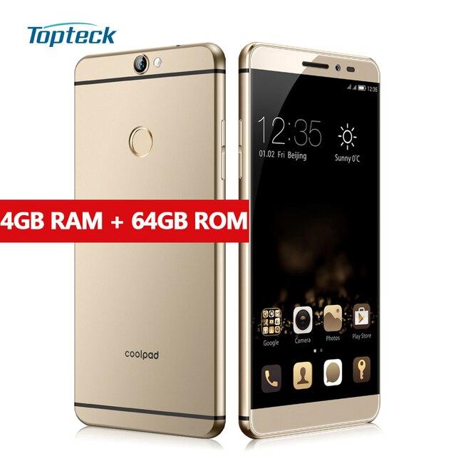 """Coolpad max (A8) 64-разрядный Восьмиядерный процессор Qualcomm Snapdragon 617 4 г 5.5 """"1920*1080 смартфон 4 ГБ + 64 ГБ 13MP телефона отпечатков пальцев мобильный телефон"""