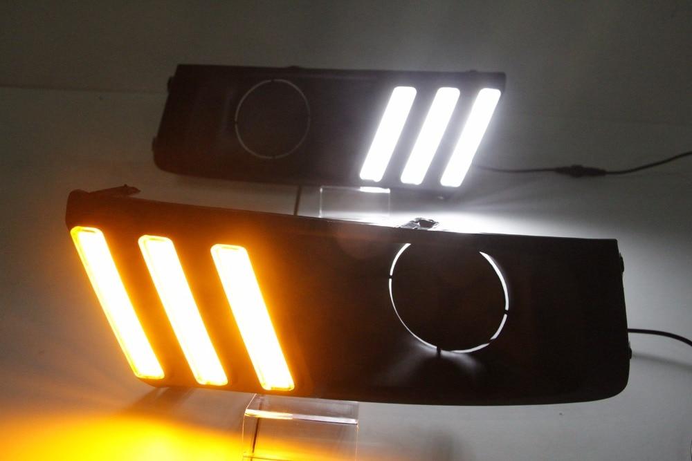 White Yellow LED Daytime Running Light DRL Fog Lamp Kit Fits for 2015 2016 2017 Suzuki Vitara